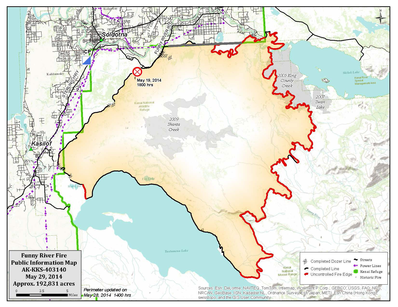 Funny River Fire Map May 29 2014