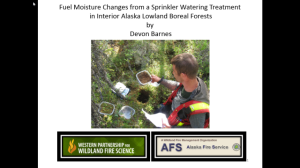 Fuel Moisture Changes From a Sprinkler Treatment in Alaska Boreal Forest