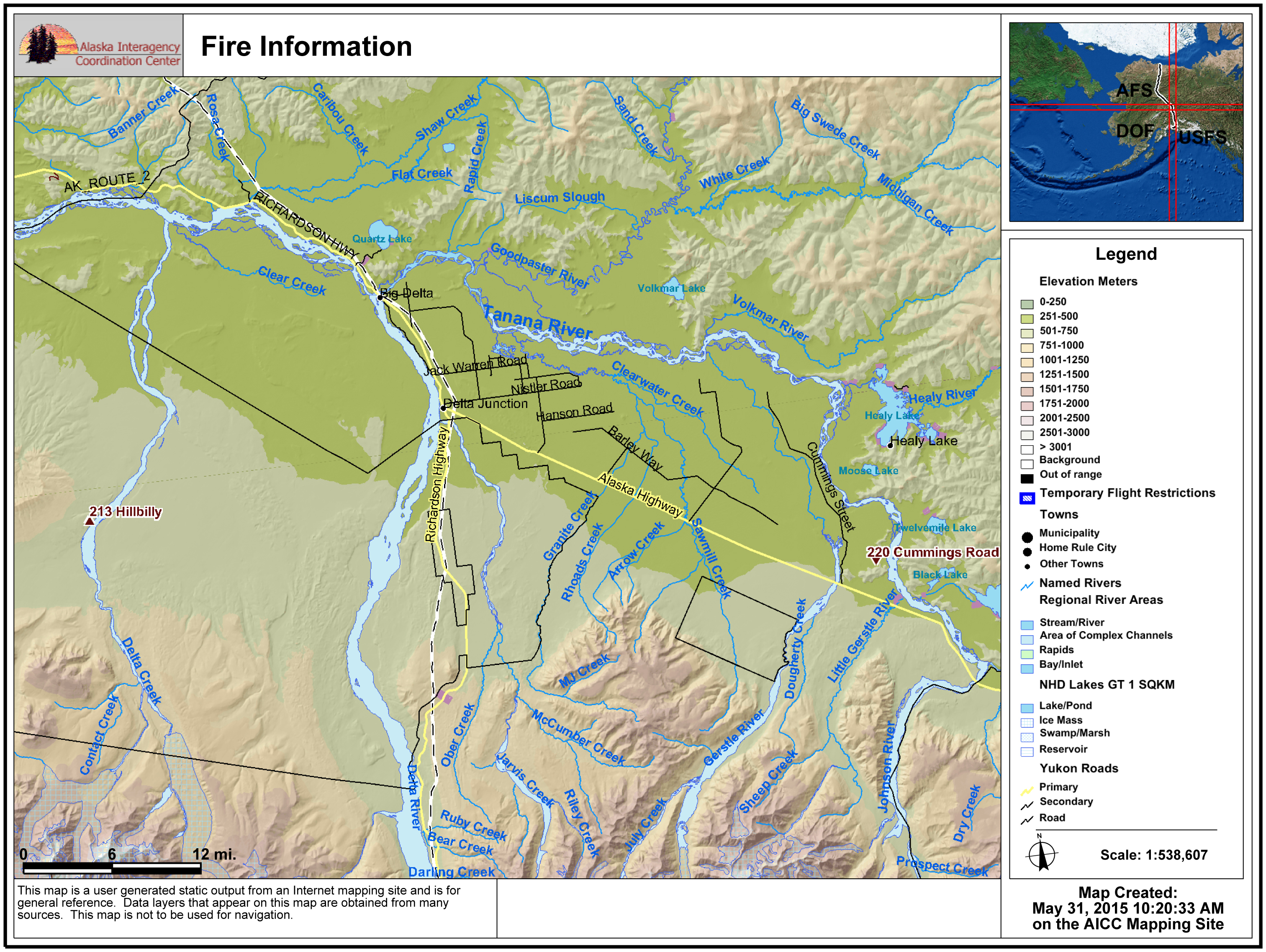 Wildland fire roundup for Sunday, May 31st | AK Fire Info
