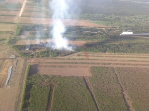 Here's an aerial shot of the 5.5 Mile Barley Way Fire state forestry firefighters are battling southeast of Delta Junction. It was last reported at 10 acres.