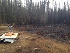A photo of the Robin Avenue Fire on Sunday on the Kenai Peninsula.
