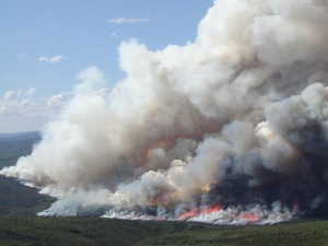 A photo of the 537,627-acre Boundary Fire north of Fairbanks in 2004, which ranks No. 11 on the all-time list of Alaska's largest wildfires.