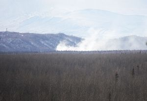 Tim Holoday of the Delta Wind snapped this picture of the fire from the Richardson Highway on Monday.