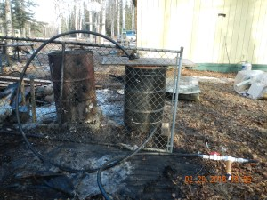The homeowner was issued a written warning for having an inadquate fire break around his burn barrel. Fire breaks around burn barrels should be cleared down to mineral soil to prevent fires from escaping.
