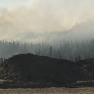 The 2016 Louise Creek Fire smolders on Thursday afternoon. The fire grew by about 500 acres on Thursday due to hot, windy weather but still does  not pose a threat. Cameron Winfrey/Alaska Division of Forestry