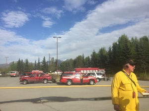 Firefighters from the Alaska Division of Forestry and Anchorage Fire Department responded to a 2-acre wildfire in Bicentennial Park in Anchorage at approximately 5 p.m. The fire was declared contained at 6 p.m.