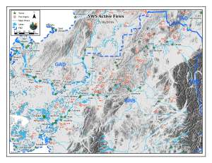 This Alaska Division of Forestry map shows the more than 40 active fires burning in Southwest Alaska. Dan Labarre/Alaska Division of Forestry