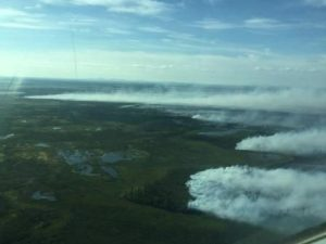 The 8,000-acre Israthorak Creek Fire in the Yukon Delta National Wildlfie Refuge is burning 200 miles southwest of McGrath. It has increased in size by 7,600 acres since Thursday. Alaska Division of Forestry photo