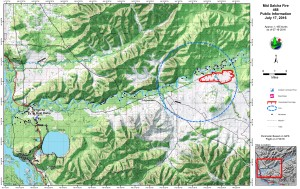 This Alaska Division of Forestry map shows the perimeter of the 1,170-acre Mid Salcha Fire burning near the Salcha River south of Fairbanks. Lasheena Nieves/Alaska Division of Forestry