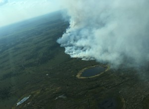 The 800-acre Doestock Fire burning approximately 150 miles southwest of McGrath. Nathan Zalewski/Alaska Division of Forestry
