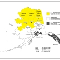Map of Fire Management Zones. BLM Alaska Fire Service zones are in yellow.
