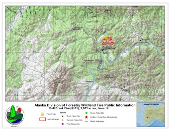 Bell Creek Fire (#161) map June 14