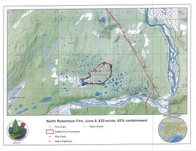 North Robertson Fire perimeter map june 9