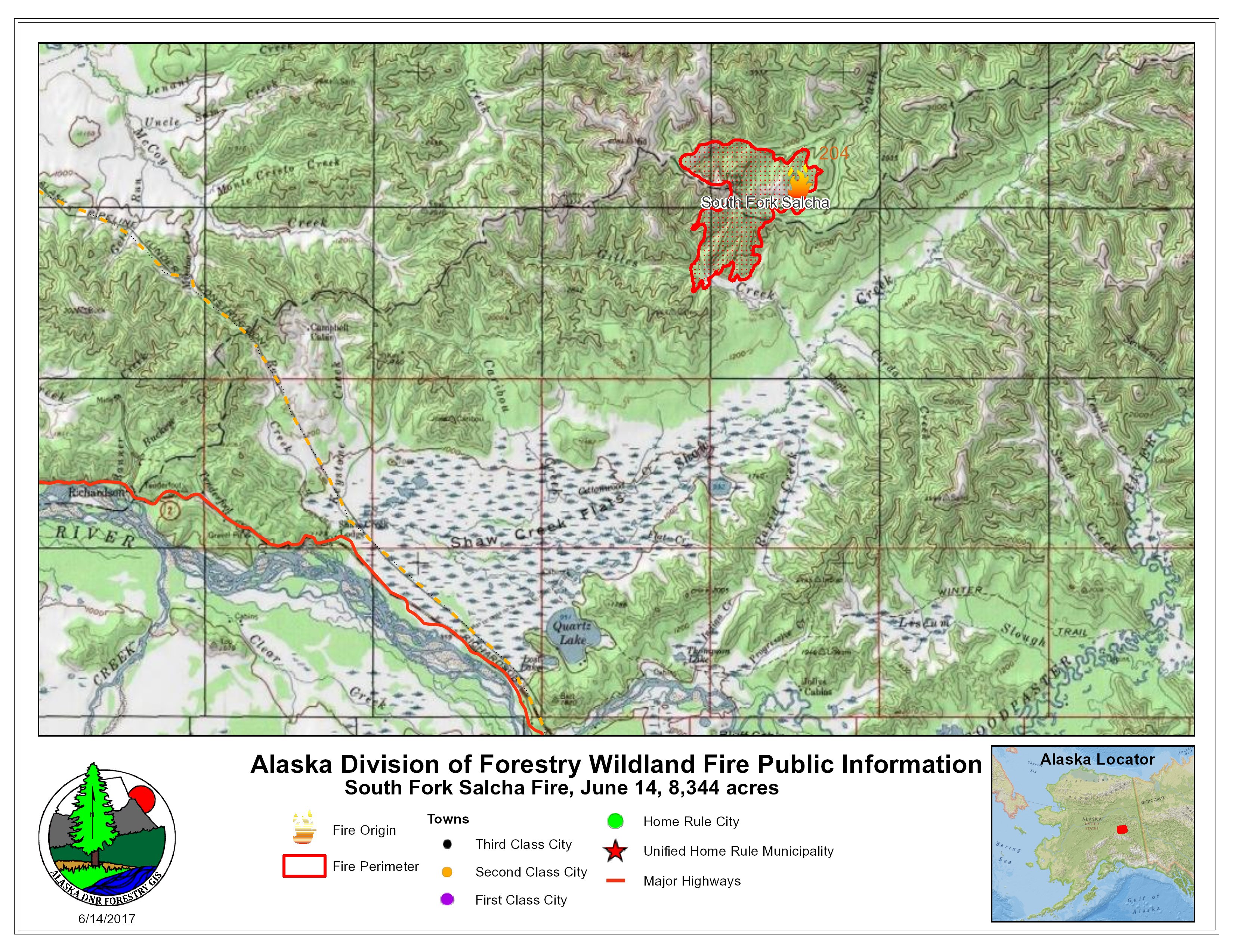 South Fork Salcha Fire Now Estimated At More Than 8 000 Acres Ak