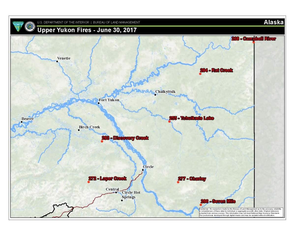 20 Mile River Alaska Map.Fire Activity Picks Up In Northeastern Alaska Ak Fire Info