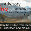 Graphic for Prescribed Fire Advisory for the Donnelly Training Area and Gerstle River Training Area.