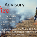 Graphic for prescribed burning on the Small Arms Complex and Yukon Training Area in May 2018.