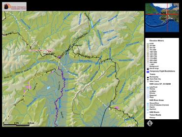 Map of Fire 103 Ready Bullion Creek Fire