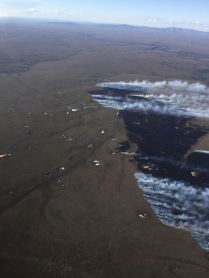 The 875-acre Fairhaven Creek Fire is burning in tundra south of Buckland. Photo by Ryan McPherson, BLM AFS