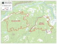 Perimeter map of the Mooseheart and Zitziana River fires.