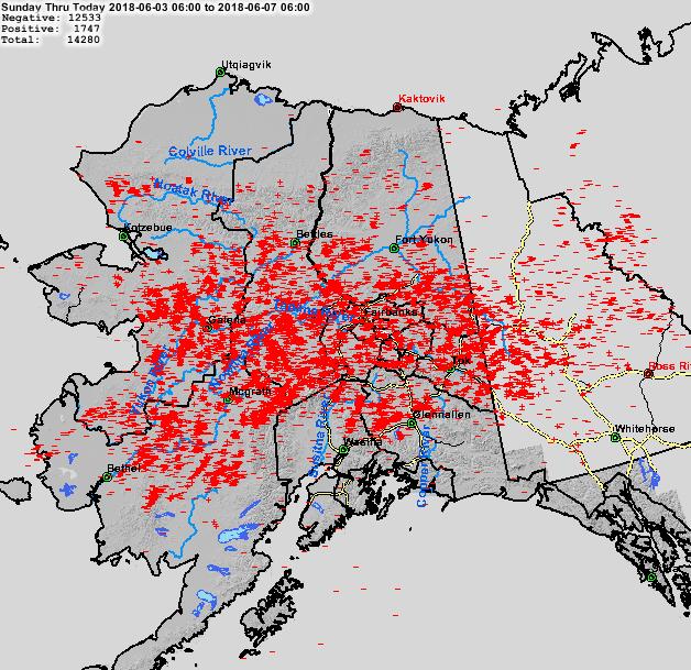lightning strikes spark dozens of new wildfires across alaska ak