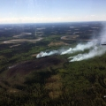 BLM AFS is working on a fire burning 22 miles northwest of Fort Yukon. Photo by Kay Kudo, BLM AFS