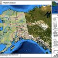 Alaska Interagency Coordination Center map showing active fires across Alaska on June 5, 2018.