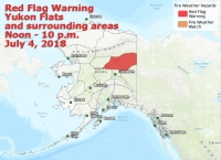 The National Weather Service has issued a red flag warning for the Yukon Flats and surrounding areas from noon to 10 p.m. on Wednesday.