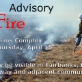 Graphic for prescribed burn at the Fort Wainwright Small Arms Complex starting on April 18, 2019.