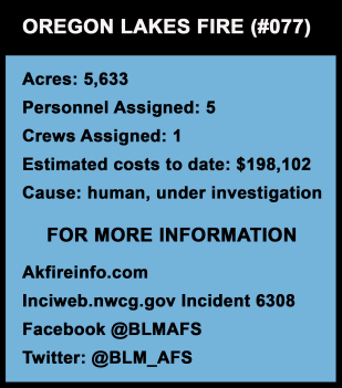 Graphic for Oregon Lakes Fire