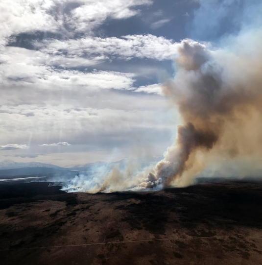 Photo of the Oregon Lakes Impact Area Fire