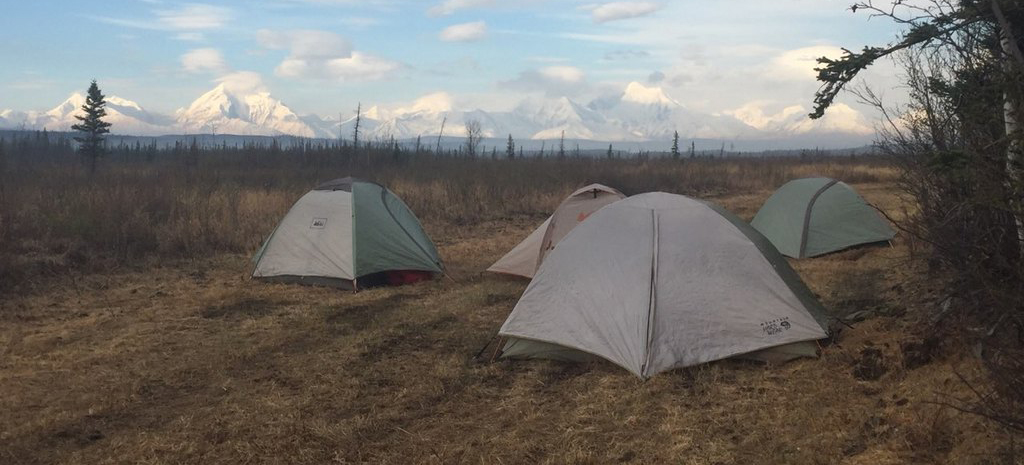 Photo of the White Mountain Type 2 Initial Attack fire crew camped in the field May 12, 2019.