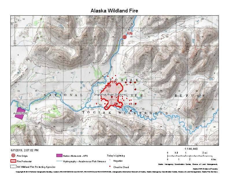 Map of the Ongivinuk River Fire.