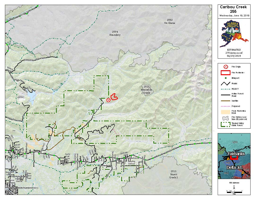 White Mountain Crew joins fight to contain Caribou Creek Fire | AK ...