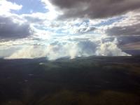 Photo of 32,500-acre North River Fire burning 28 miles northeast of Koyuk.