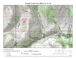 Cripple Creek Fire map