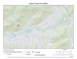 Hayes Creek Fire map