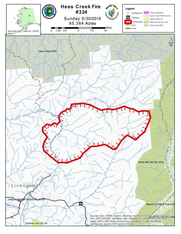 hess creek fire update 6  30