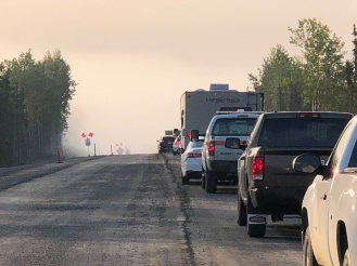 Heavy fog and smoke caused delays on the Sterling Highway on June 21.