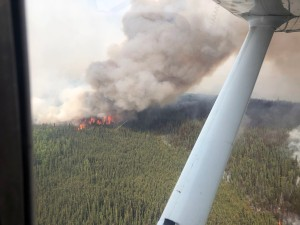 The McArthur Creek Fire near the Alaska/Canada border as seen from the air on Saturday, June 29, 2019. Photo by Peter Talus/Alaska Division of Forestry