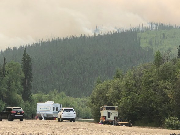 Nugget Creek Fire actively burning on 6/29.