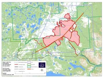 June 23rd Swan Lake Fire Information Map.