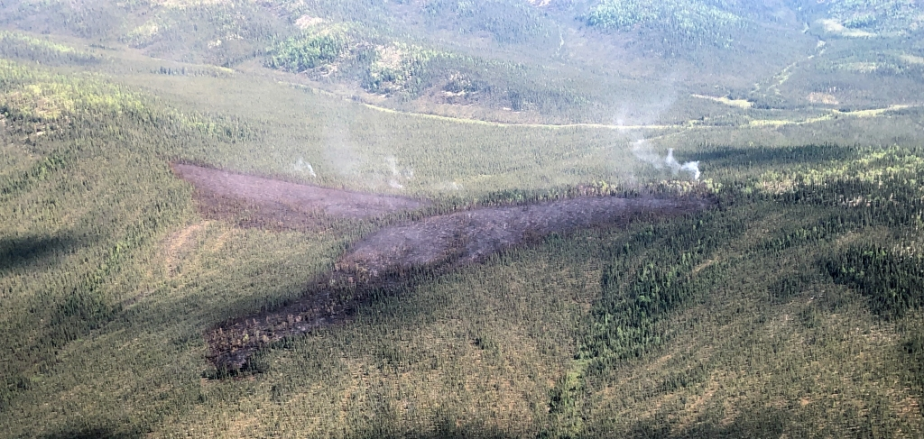 Photo of the Red Mountain Fire burning north of the Koyukuk River.
