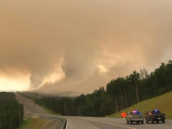 Law Enforcement assisting during burn operations.  Photo Credit: Dan Patterson/ Forest Service