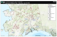 A map of active fires across Alaska on Saturday, July 20, 2019.
