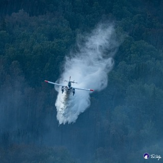 Fire Boss Drops Water on the Shovel Creek Fire