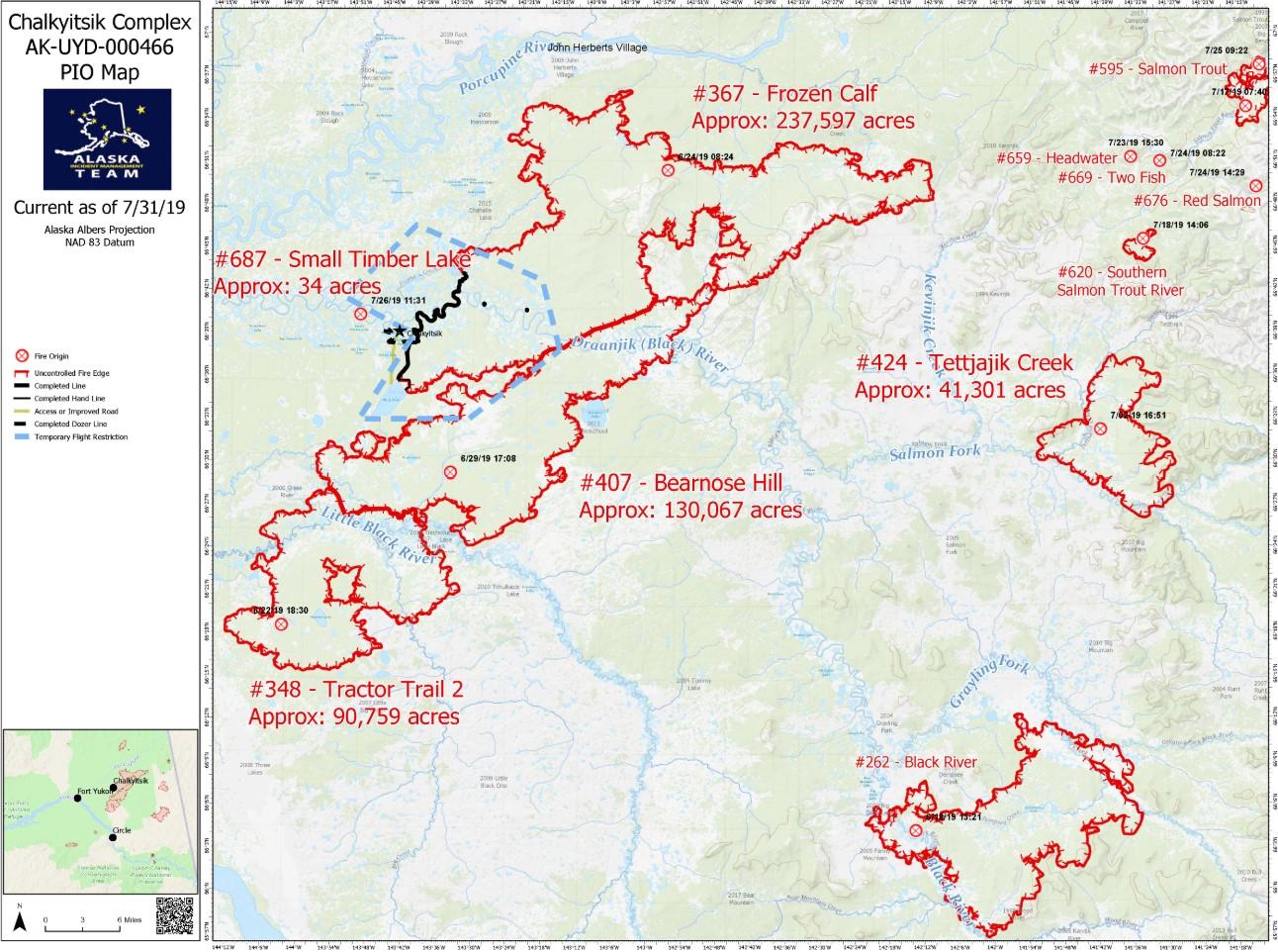 Perimeter Map Chalkyitsik Fire July 31, 2019