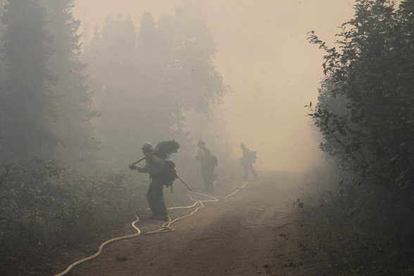 Fire crews are on their second day of holding the Shovel Creek Fire strategic firing operation. Photo credit: J Michael Johnson/PNW2