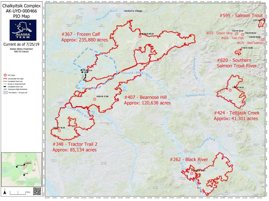 Fire Perimeter Map July 25, 2019