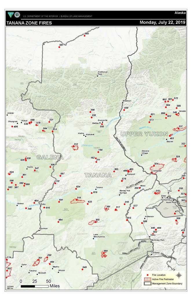 Tanana Zone fire map